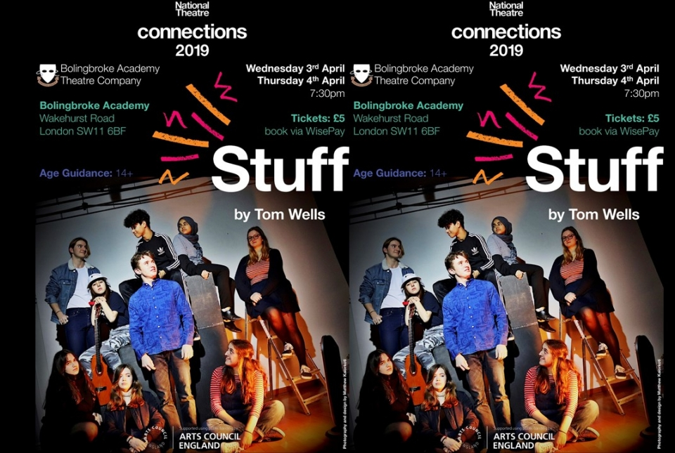 Image of poster for the Sixth form play Stuff