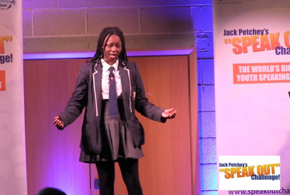 Jack Petchey Speak Out Foundation 2018