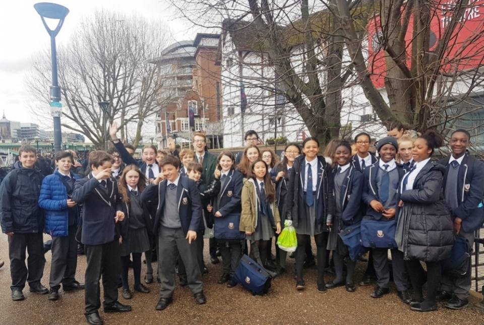 Year 8 Shakespeare's Globe Theatre Trip