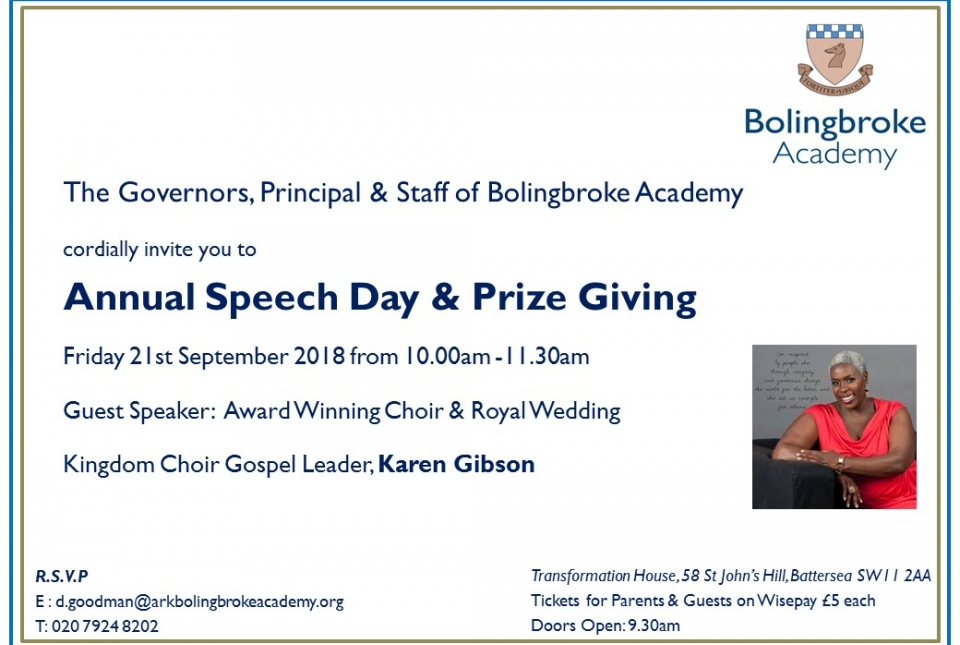 Speech Day & Prize Giving 2018